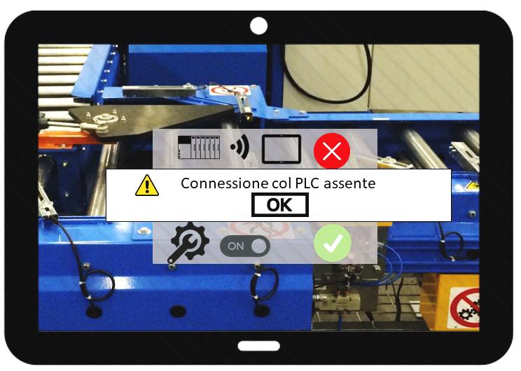 Connessione col PLC assente