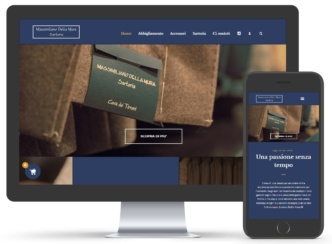 E-commerce Della Mura - Tailoring