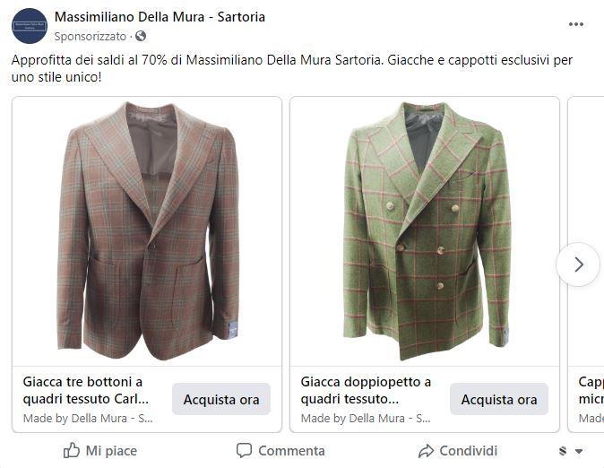 Facebook Ads - Della Mura Tailoring