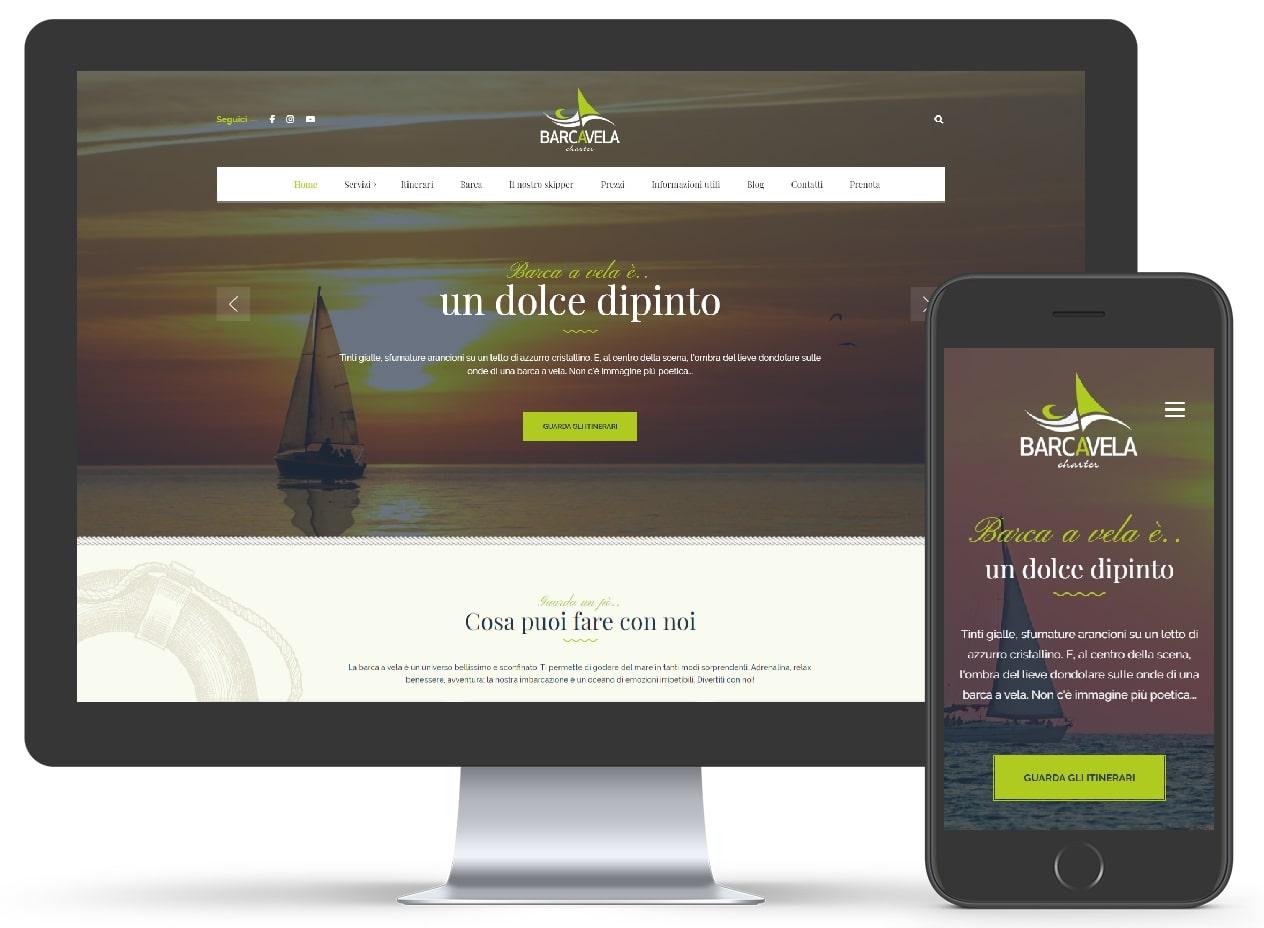 Barcavelacharter showcase site