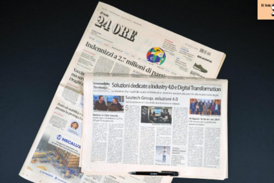 Il Sole 24 Ore parla delle nostre soluzioni 4.0